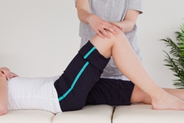 Touch2Heal use gentle manipulation to ease leg injuries